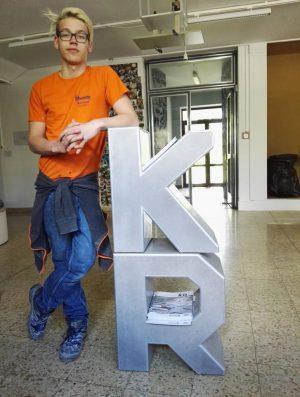 Stoob-Schüler Philipp Hopf mit seiner variablen Buchstabenkombination