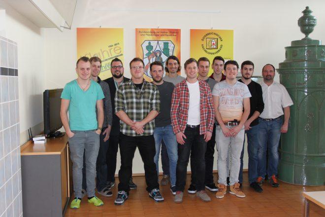 Die Teilnehmer des Hafner-Meisterkurses.